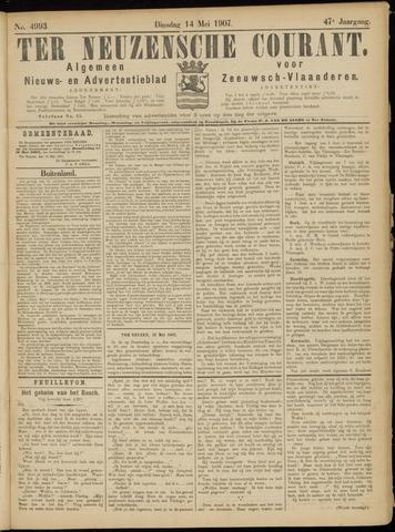 Ter Neuzensche Courant. Algemeen Nieuws- en Advertentieblad voor Zeeuwsch-Vlaanderen / Neuzensche Courant ... (idem) / (Algemeen) nieuws en advertentieblad voor Zeeuwsch-Vlaanderen 1907-05-14