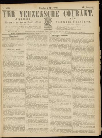 Ter Neuzensche Courant. Algemeen Nieuws- en Advertentieblad voor Zeeuwsch-Vlaanderen / Neuzensche Courant ... (idem) / (Algemeen) nieuws en advertentieblad voor Zeeuwsch-Vlaanderen 1907-05-07