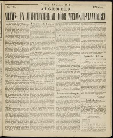 Ter Neuzensche Courant. Algemeen Nieuws- en Advertentieblad voor Zeeuwsch-Vlaanderen / Neuzensche Courant ... (idem) / (Algemeen) nieuws en advertentieblad voor Zeeuwsch-Vlaanderen 1872-09-14