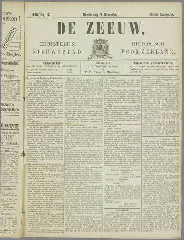 De Zeeuw. Christelijk-historisch nieuwsblad voor Zeeland 1888-11-08