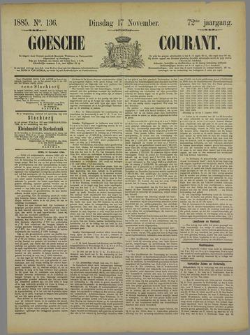 Goessche Courant 1885-11-17