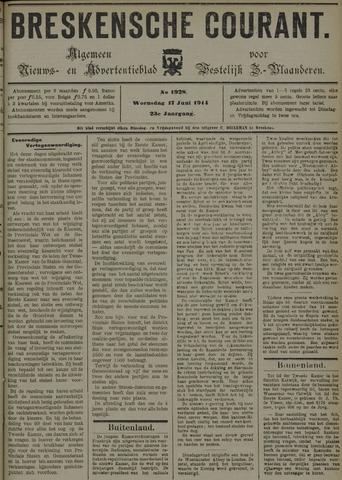 Breskensche Courant 1914-06-17