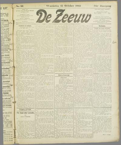 De Zeeuw. Christelijk-historisch nieuwsblad voor Zeeland 1919-10-15