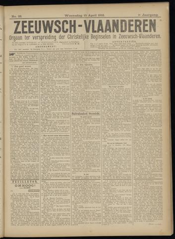 Luctor et Emergo. Antirevolutionair nieuws- en advertentieblad voor Zeeland / Zeeuwsch-Vlaanderen. Orgaan ter verspreiding van de christelijke beginselen in Zeeuwsch-Vlaanderen 1918-04-10