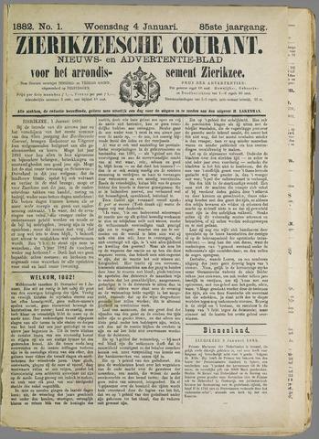 Zierikzeesche Courant 1882