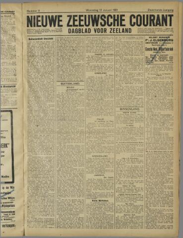 Nieuwe Zeeuwsche Courant 1921-01-12