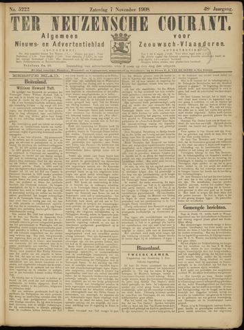 Ter Neuzensche Courant. Algemeen Nieuws- en Advertentieblad voor Zeeuwsch-Vlaanderen / Neuzensche Courant ... (idem) / (Algemeen) nieuws en advertentieblad voor Zeeuwsch-Vlaanderen 1908-11-07