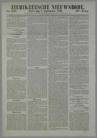 Zierikzeesche Nieuwsbode 1881-09-03