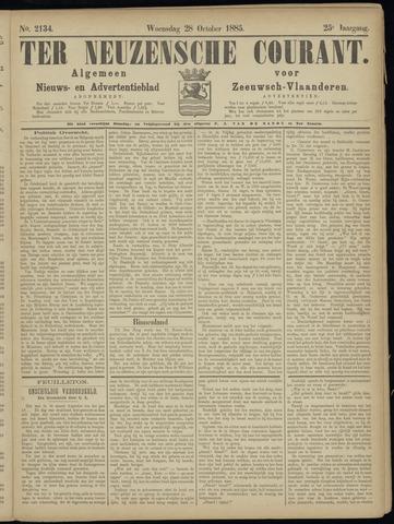 Ter Neuzensche Courant. Algemeen Nieuws- en Advertentieblad voor Zeeuwsch-Vlaanderen / Neuzensche Courant ... (idem) / (Algemeen) nieuws en advertentieblad voor Zeeuwsch-Vlaanderen 1885-10-28