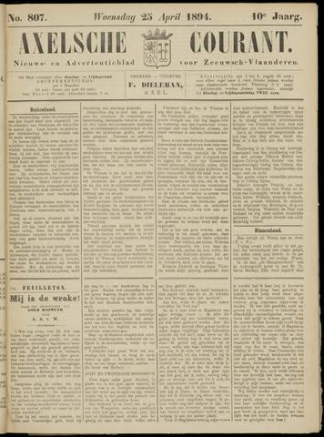 Axelsche Courant 1894-04-25