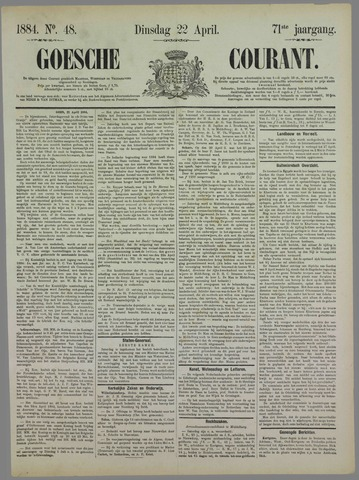 Goessche Courant 1884-04-22