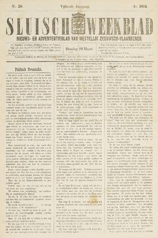 Sluisch Weekblad. Nieuws- en advertentieblad voor Westelijk Zeeuwsch-Vlaanderen 1874-03-10