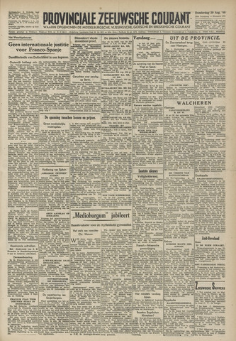 Provinciale Zeeuwse Courant 1946-08-29