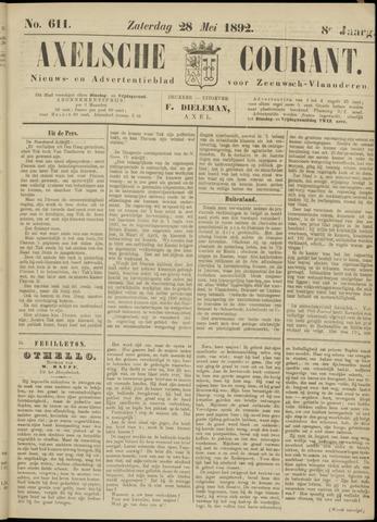 Axelsche Courant 1892-05-28