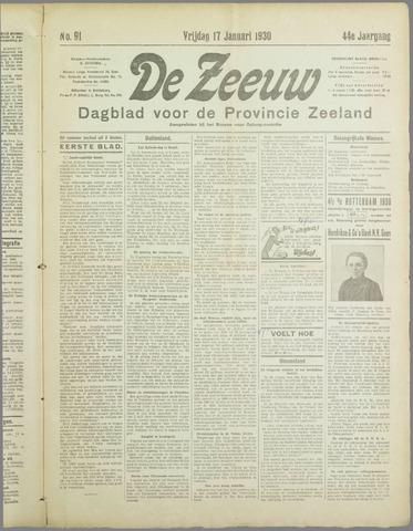 De Zeeuw. Christelijk-historisch nieuwsblad voor Zeeland 1930-01-17