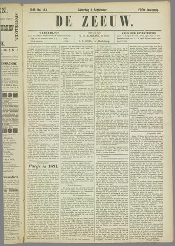 De Zeeuw. Christelijk-historisch nieuwsblad voor Zeeland 1891-09-05