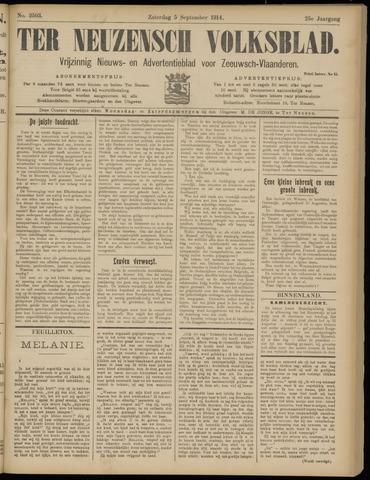 Ter Neuzensch Volksblad. Vrijzinnig nieuws- en advertentieblad voor Zeeuwsch- Vlaanderen / Zeeuwsch Nieuwsblad. Nieuws- en advertentieblad voor Zeeland 1914-09-05