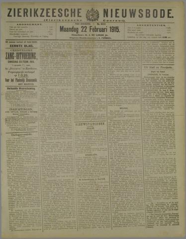 Zierikzeesche Nieuwsbode 1915-02-22