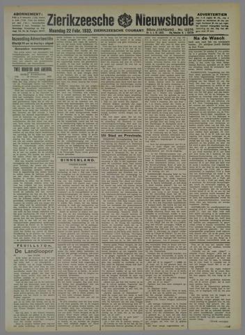 Zierikzeesche Nieuwsbode 1932-02-22