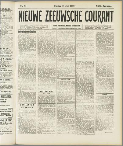 Nieuwe Zeeuwsche Courant 1909-07-13