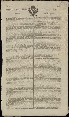Middelburgsche Courant 1814-08-06