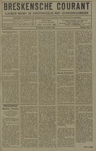 Breskensche Courant 1923-10-10