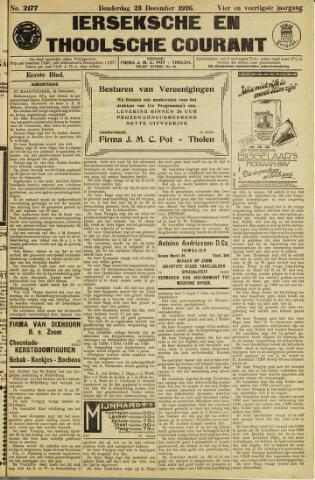 Ierseksche en Thoolsche Courant 1926-12-23