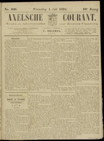 Axelsche Courant 1894-07-04