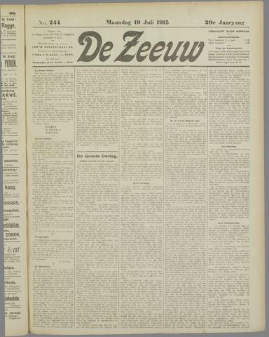 De Zeeuw. Christelijk-historisch nieuwsblad voor Zeeland 1915-07-19