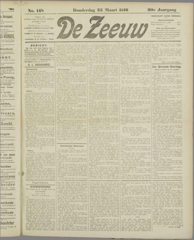 De Zeeuw. Christelijk-historisch nieuwsblad voor Zeeland 1916-03-23
