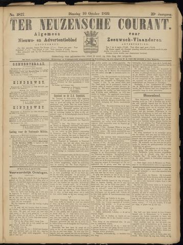 Ter Neuzensche Courant. Algemeen Nieuws- en Advertentieblad voor Zeeuwsch-Vlaanderen / Neuzensche Courant ... (idem) / (Algemeen) nieuws en advertentieblad voor Zeeuwsch-Vlaanderen 1899-10-10