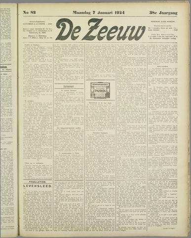 De Zeeuw. Christelijk-historisch nieuwsblad voor Zeeland 1924-01-07