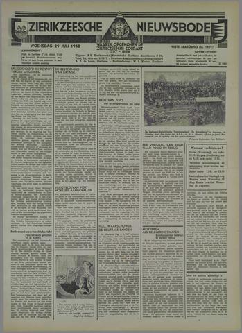 Zierikzeesche Nieuwsbode 1942-07-29