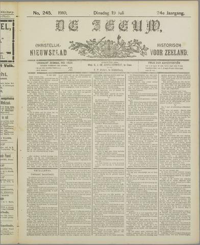 De Zeeuw. Christelijk-historisch nieuwsblad voor Zeeland 1910-07-19