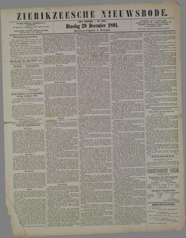 Zierikzeesche Nieuwsbode 1891-12-29