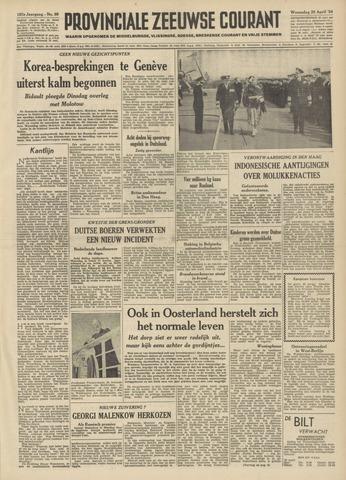 Provinciale Zeeuwse Courant 1954-04-28
