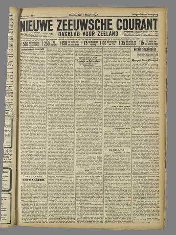 Nieuwe Zeeuwsche Courant 1923-03-01
