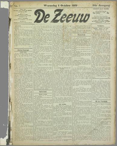 De Zeeuw. Christelijk-historisch nieuwsblad voor Zeeland 1919-10-01