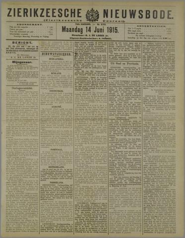 Zierikzeesche Nieuwsbode 1915-06-14