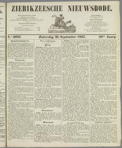 Zierikzeesche Nieuwsbode 1863-09-26