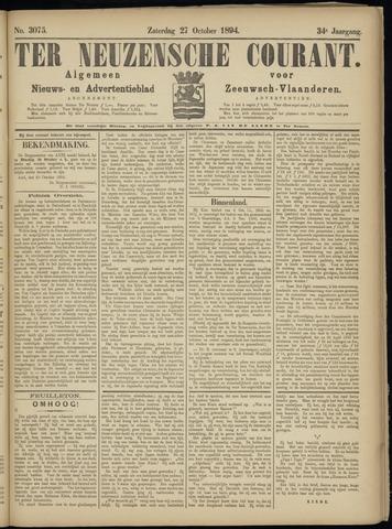 Ter Neuzensche Courant. Algemeen Nieuws- en Advertentieblad voor Zeeuwsch-Vlaanderen / Neuzensche Courant ... (idem) / (Algemeen) nieuws en advertentieblad voor Zeeuwsch-Vlaanderen 1894-10-27