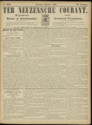 Ter Neuzensche Courant. Algemeen Nieuws- en Advertentieblad voor Zeeuwsch-Vlaanderen / Neuzensche Courant ... (idem) / (Algemeen) nieuws en advertentieblad voor Zeeuwsch-Vlaanderen 1886-10-09