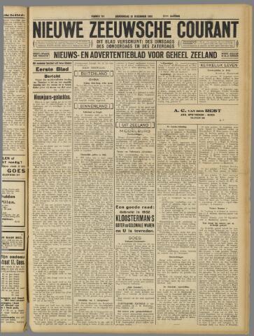 Nieuwe Zeeuwsche Courant 1931-12-31