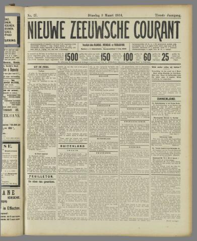 Nieuwe Zeeuwsche Courant 1914-03-03