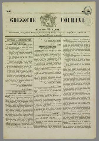 Goessche Courant 1852-03-29