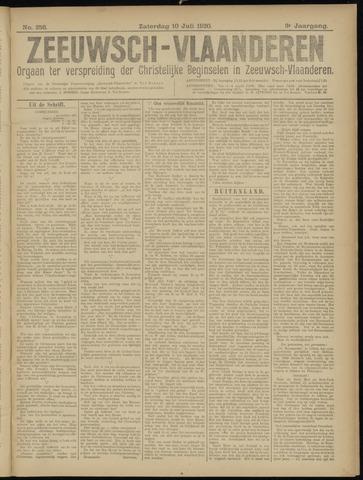 Luctor et Emergo. Antirevolutionair nieuws- en advertentieblad voor Zeeland / Zeeuwsch-Vlaanderen. Orgaan ter verspreiding van de christelijke beginselen in Zeeuwsch-Vlaanderen 1920-07-10