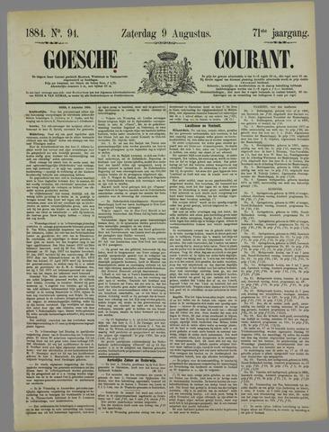 Goessche Courant 1884-08-09