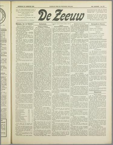 De Zeeuw. Christelijk-historisch nieuwsblad voor Zeeland 1934-08-22