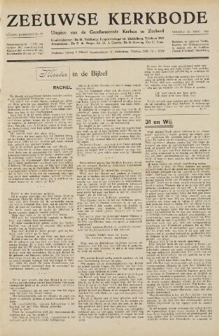 Zeeuwsche kerkbode, weekblad gewijd aan de belangen der gereformeerde kerken/ Zeeuwsch kerkblad 1948-11-26
