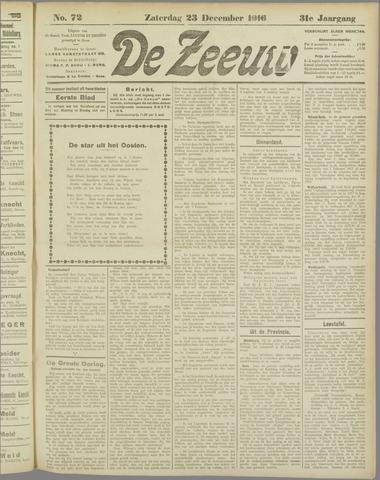 De Zeeuw. Christelijk-historisch nieuwsblad voor Zeeland 1916-12-23